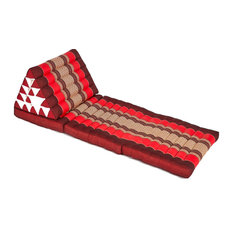 Triangle Lounger, Red/Burgundy