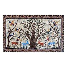 "African Mosaic Art, Tree Of Life, 18""x30"""