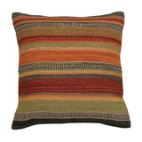 Ooty Stripe Wool Kilim Cushion, Small, Cover Only