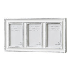 hill 1975 hill interiors 3 way photo frame antique white picture frames