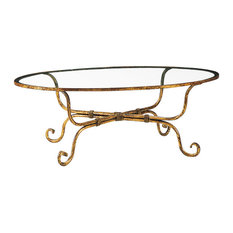 Glass And Wrought Iron Coffee Tables Houzz