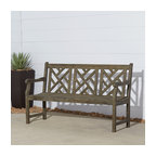 Renaissance Outdoor Hand-Scraped Hardwood Bench