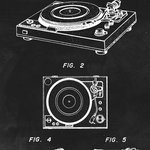 Keep Calm Collection - Record Player (Vintage Turntable) Patent Art Print - High quality print on durable paper. Size: 12 x 18 inches. Printed in the USA and suitable for framing.