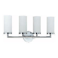43W Gu24 Socket Vanity Light, Chrome Finish, White Shade