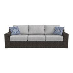 Alta Grande Outdoor Sofa in Beige/Brown P782-838