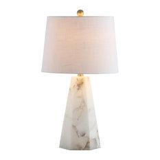 "Xio 25.5"" Alabaster LED Table Lamp, White"