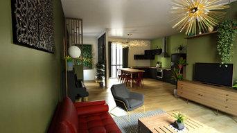 Rénovation Appartement - Salon et Cuisine