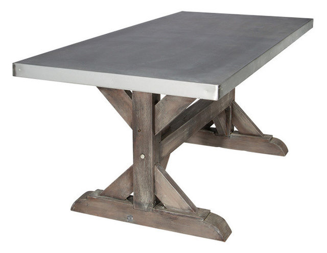 hinman trestle table - industrial - outdoor dining tables -sds