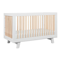 Hudson 3-In-1 Convertible Crib With Toddler Bed Conversion Kit, Washed Natural/W
