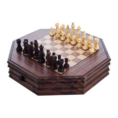 Trademark Games - Octagonal Chess and Checkers Set by Trademark Games - Board Games and Card Games