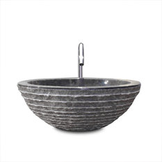 Tikamoon - Vasque noire en marbre Scrula Bamoro - Lavabos