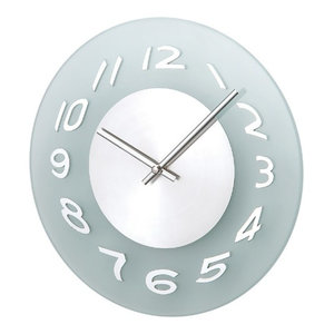 Verichron Aluminum Frosted Wall Clock