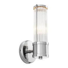 Eichholtz Claridges Single Wall Lamp, Nickel