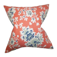 "Danique Floral Pillow Coral 20""x20"""