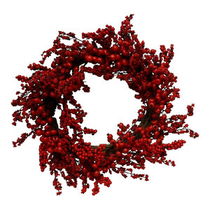 Artificial Red Berry Wreath