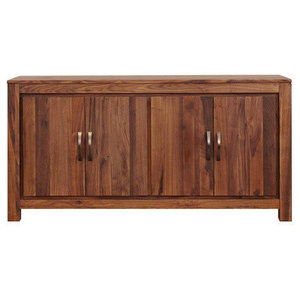 4 Door Mayan Solid Walnut Low Sideboard