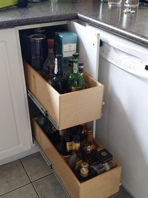 Blind Corner And Under The Sink Pull Out Shelving Installation