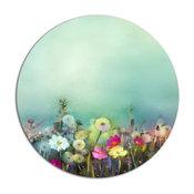 "Dandelion Poppy And Daisy Flowers, Flower Round Wall Art, 11"""