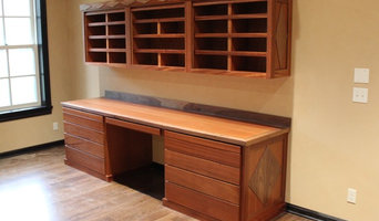 Sapele Desk and Cabinets