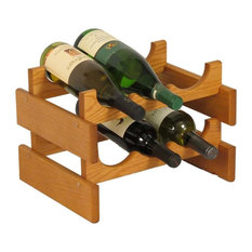 Wooden Mallet Dakota 2 Tier 6 Bottle Wine Rack in Medium Oak