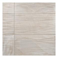 "SomerTile 12.5""x24.5"" Deco Dubai Pearl Porcelain Wall Tile, Dhabi Pearl"