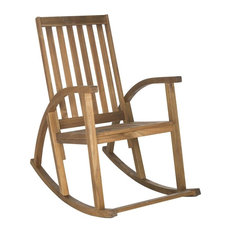 Clayton Rocking Chair in Teak Finish by Safavieh
