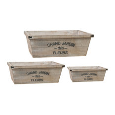 Wood Planters Grand Jardin, 3-Piece Set