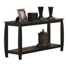 Coaster Marina Retangular Console Table With Bottom Shelf In Cappuccino