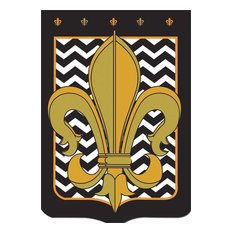Black and Gold Chevron, Large