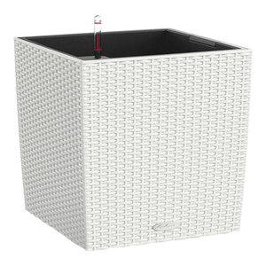 Cube Cottage Self Watering Planter, 50x50x50 CM, White