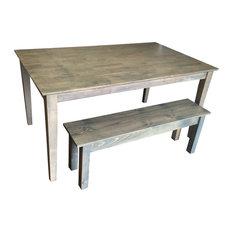 "Driftwood Grey Shaker Table, 60"""