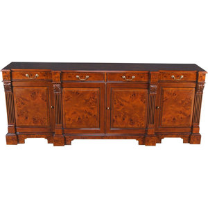 Walnut Chippendale Buffet Sideboard Server Traditional Buffets
