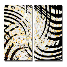 """Opalescent Abstract II"" 2-Piece Canvas Art Set By Bruce Bain, 24""x12"""