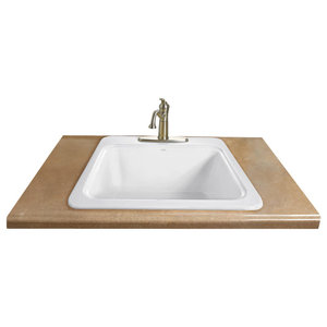 White Vintage Style High Back Farm Sink American Standard