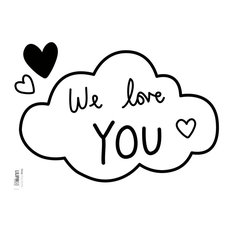 """Lilipinso """"Clouds we Love You"""" Wall Stickers, 18x24 cm"""