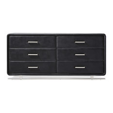 Vetro Accent Chest - Black with Soft-Closed Drawers
