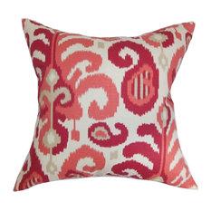 "Scebbi Ikat Pillow Berry 18""x18"""
