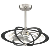 Aspect 6-Light Ceiling Fan, Brushed Nickel Finish
