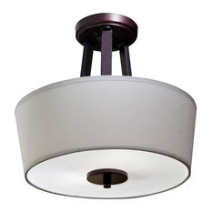 kichler semiflush mount ceiling light with shade and diffuser oil rubbed bronze