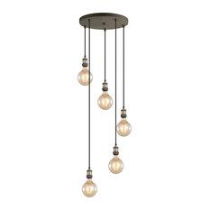Woodbridge Lighting Fulton Cluster Pendant with G125 Bulb