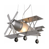 Focker - hanging light in an aeroplane design