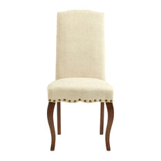 Kensington Chair, Pearl, Walnut Legs