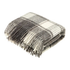 Natural Collection Pure New Wool Throw Blanket Huntingtower Brown