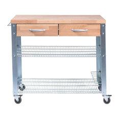Jan Kurtz GmbH - Solid Beech and Galvanized Steel Cook Kitchen Cart, Large - Kitchen Islands & Kitchen Trolleys