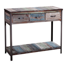 Captivating Gallerie Decor   Soho Console Table, Blue   Console Tables