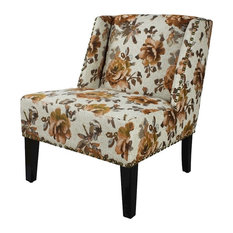 Contemporary Floral Dining Room Chairs | Houzz