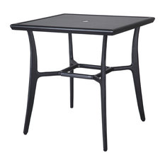 Fusion 30-inch Square Dining Table Carbon Quarry Top