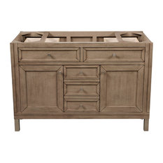"""Chicago 48"""" Vanity, White Washed Walnut, Without Top"""
