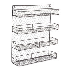 Double Wide 4 Row Chicken Wire Spice Rack