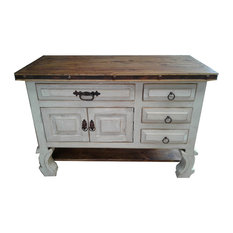 Shelby Vintage Style Rustic Bathroom Vanity Right Side Drawers 40-inchx20-inchx32-inch